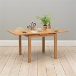Light Oak 90-155cm Ext. Table and 4 Brown Chairs 610.033_yzaj1rof