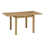 Light Oak 90-155cm Ext. Table and 4 Grey Rollback Chairs 610.044_w3k28zo6