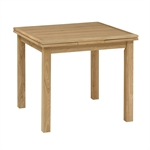 Light Oak 90-155cm Ext. Table and 4 Grey Chairs 610.047_7uk6otmx