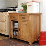 Rustic Oak Complete Dining Room - Sideboard, Table and 4 Chairs 610.055_5q8j86cu