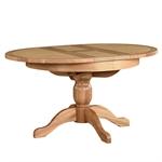 Light Oak 110-145cm Round Ext. Dining Table 610.058_n98mxg66