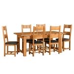 Rustic Oak 180-220-260cm Extending Dining Table 610.064_huo7naf2