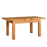 Rustic Oak 132-162-192 Ext. Table and 4 Wooden Seat Chairs 610.071_dehckhwl