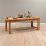Rustic Oak 220-265-310 Ext. Table and 8 Wooden Seat Chairs 610.076_cw6ckpsx