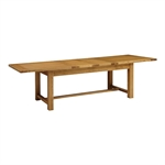 Rustic Oak 220-265-310 Ext. Table and 8 Wooden Seat Chairs 610.076_xsq8shwl