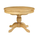 Light Oak 110-145cm Ext. Round Table and 4 Grey Rollback Chairs 610.085_uflqzji2