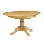 Light Oak 110-145cm Ext. Round Table and 4 Bison Rollback Chairs 610.087_rnhg4v20
