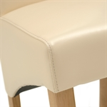 Light Oak 110-145cm Ext. Round Table and 4 Cream Rollback Chairs 610.091_d76f4vzq