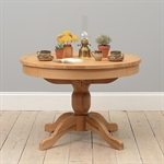 Light Oak 110-145cm Ext. Round Table and 4 Black Straightback Chairs 610.095_tsjyz6fe