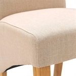 Light Oak 132-162-192cm Ext. Table and 4 Linen Rollback Chairs 610.102_cd6pgx31