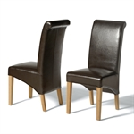 Light Oak 180-220-260cm Ext. Table and 6 Brown Rollback Chairs 610.119_0sqpjrss