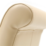 Light Oak 180-220-260cm Ext. Table and 6 Cream Rollback Chairs 610.122_x21922gl