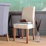 Light Oak 180-220-260cm Ext. Table and 6 Linen Chairs 610.124_h3mo61la