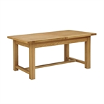 Light Oak 180-220-260cm Ext. Table and 6 Brown Straightback Chairs 610.125_ofn8nb4h