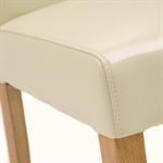 Light Oak 180-220-260cm Ext. Table and 6 Cream Straightback Chairs 610.127_r22mzhxi