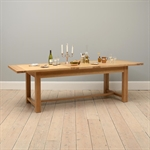 Light Oak 220-265-310cm Ext. Table and 8 Brown Rollback Chairs 610.135_8kp55985