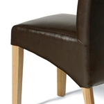 Light Oak 220-265-310cm Ext. Table and 8 Brown Rollback Chairs 610.135_lse5dedk