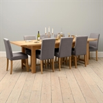 Light Oak 220-265-310cm Ext. Table and 8 Grey Chairs 610.138_380veo1y