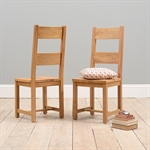 Rustic Oak 180-220-260 Ext. Table and 6 Wooden Seat Chairs 610.148_0z9vcz2d