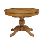 Rustic Oak 110-145 Ext. Round Table and 4 Bistro Chairs 610.151_vj912sap