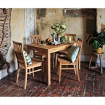 Calais Oiled Oak Dining Set with 4 Chairs 611.006_u7u0rwz1