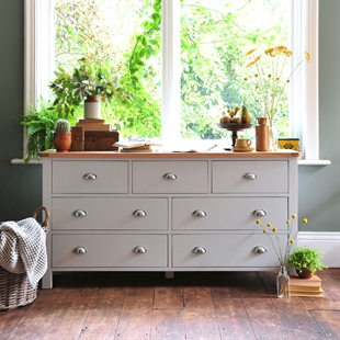 Kenwith Grey Wide 7 Drawer Chest