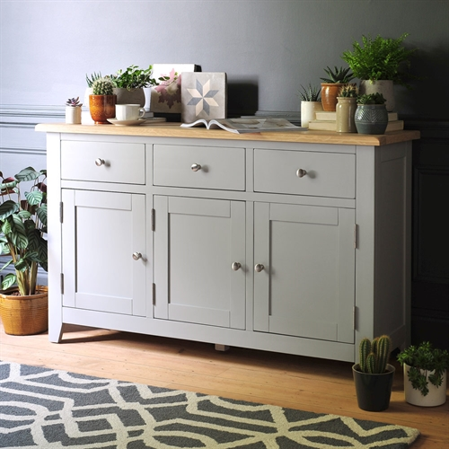 Banbury Grey 3 Door Sideboard