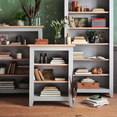 Banbury Grey Small Bookcase