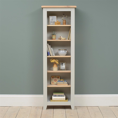 Banbury Grey Tall Slim Bookcase