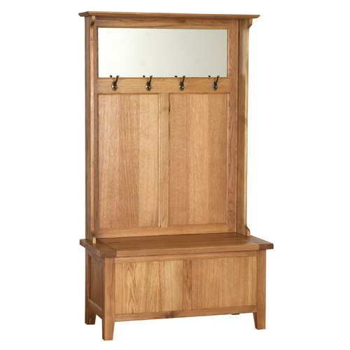 Vancouver oak hall unit including free delivery Wooden hallway furniture