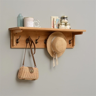 Vancouver Oak 7 Hook Coat Rack