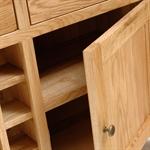 Vancouver Oak Large Dresser With Wine Rack 721.124.4
