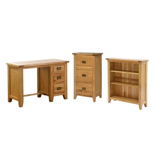 vancouver oak office set including free delivery pine
