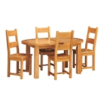 Vancouver Oak 160-200cm Round Ext. Table with 4 Chairs 721.182_5motnmkk