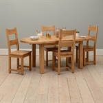 Vancouver Oak 160-200cm Round Ext. Table with 4 Chairs 721.182_6m4bouen