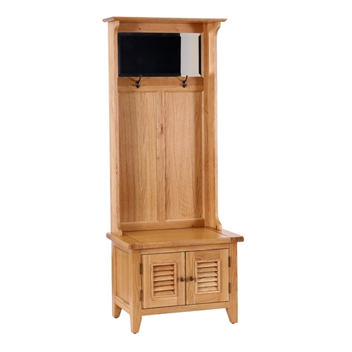 Vancouver Oak Narrow Hallway Unit Including Free Delivery Pine Solutions