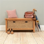 Vancouver Oak Storage Bench with Basket Drawer 721.191_gk6kal6k