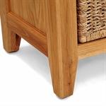 Vancouver Oak Single Basket Storage Bench and School Hook Set 721.208_6bix2gy8