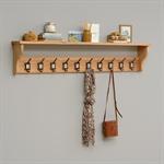 Vancouver Oak Single Basket Storage Bench and School Hook Set 721.208_z4uk635c