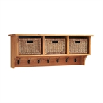 Vancouver Oak Triple Basket Shelf and Bench Set 721.225_0pbog9nu