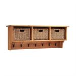 Vancouver Oak Claret Hall Bench and Basket Shelf Set 721.229_85jv6r7m