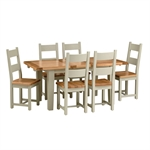 Houghton French Grey 140cm-180cm Extending Dining Table 730.027.6