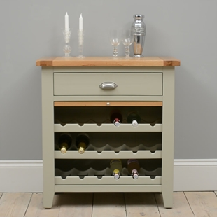 Houghton French Grey Wine Rack