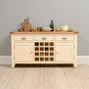 Canterbury Cream Sideboard with Wine Rack