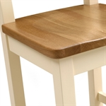 Canterbury Cream 140cm-180cm Ext. Table and 6 Ladderback Chairs 732.046.9