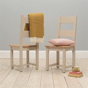 Pavillion Soft Truffle Ladderback Dining Chair