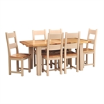 Pavillion Soft Truffle 140-180cm Ext. Table with 6 Chairs 733.045_nr8g4lvl