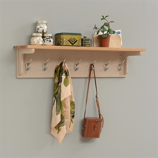 Pavillion Soft Truffle 7-Hook Coat Rack