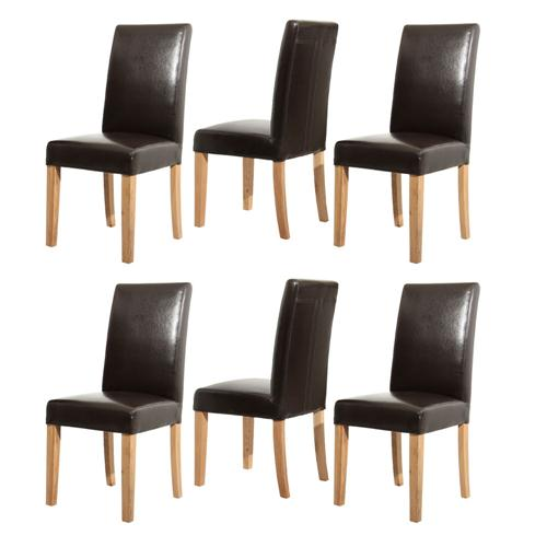 Light Oak Brown Leather Dining Chairs Set of 6 including  : 80806514 from www.pinesolutions.co.uk size 500 x 500 jpeg 21kB