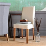 Light Oak Cream Linen Dining Chair 808.088_ojhbafa9